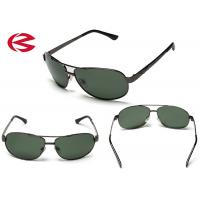 Wholesale Classic Green Mirror Lens Aviator Sunglasses , Anti Reflective Coating Pilot Glasses from china suppliers