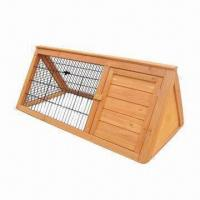 Wholesale Rabbit Hutch with Black Steel Netting, Available in Various Sizes from china suppliers