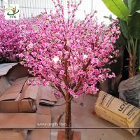 Wholesale UVG Dongguang manufactory make pink landscape artificial peach blossom trees for emporium decoration CHR152 from china suppliers