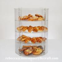 Wholesale New Countertop Eco-friendly Four Tier Transparent Acrylic Bakery Display Case from china suppliers