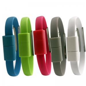 Wholesale Silicone 22cm USB 2.0 Charging Cable 8pin Bracelet Charging Cable from china suppliers