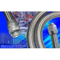 Buy cheap heavy series over braided interlocked Liquid tight metal Conduit heavy series flexible conduit fittings for machine from wholesalers