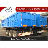 Wholesale 55 Tons Hydraulic 3 Axles 45cbm Tipper Semi Trailer with BPW alxe from china suppliers