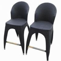 Wholesale Outdoor Furniture, Rattan Bar Chair with Stainless Steel Footrest from china suppliers