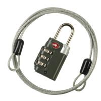 Wholesale 2-In-1 Combination Security Cable Lock 3-Dial TSA Luggage Locks / TSA Travel Locks from china suppliers
