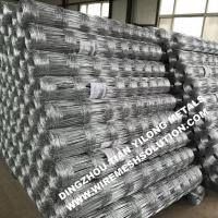 China 12.5 GA Woven Field Wire Fence , Galvanized Iron Cattle Fence For Road on sale