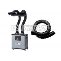 Wholesale Two Arms 200w 110v Fume Extractor , Grey Color Fume Eliminator With 4 Wheels from china suppliers