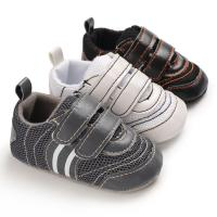 Buy cheap Hot sale PU Leather soft bottom casual boyoutdoor sneaker mesh baby shoes from wholesalers