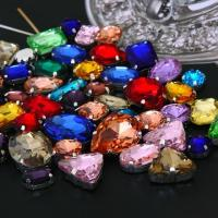 Wholesale Pear/triangle/rectangle/ellipse metal setting sew on chaton jewelly rhinestone from china suppliers