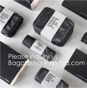 Wholesale Custom Travel Organizer Cosmetic Ziiper Black Tyvek Paper Bag,Factory Price Tyvek Cosmetic Bag Custom Tyvek Paper Pouch from china suppliers