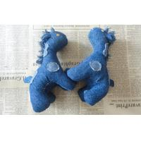 "Quality 6"" Pony children Stuffed homemade unique denim toys gifts for home decoration for sale"
