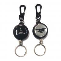 Wholesale Airport / Hotel Black Retractable Id Card Reel With 60Cm Length Nylon Cord from china suppliers