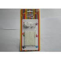 Wholesale Birthday Cake Flameless Taper Candles , Paraffin Silver Glitter Candles from china suppliers