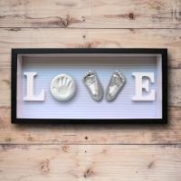 China Baby Feet and Hands 3D Baby Casting Kit , Plaster Handprint Footprint Wooden Photo Frame on sale