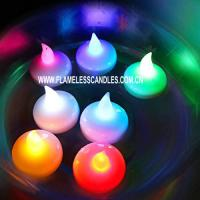 Wholesale LED Battery Operated Romantic Floating Waterproof Color Changing Tea Lights Multi Color from china suppliers