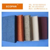 Wholesale Fabric Wrapped Fiberglass Wall Panel Board , Acoustic Decorative Wall Panels For Halls from china suppliers