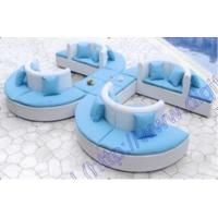 Wholesale Fashion Blue Garden Curved Outdoor Sofa , Patio Furniture Sofa Couch from china suppliers