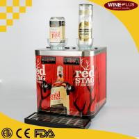 Powder Coated Chilled Shot Dispenser in black color with Decorative Colorful Stickers For Bars