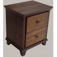 Wholesale Antique Style Hotel Bedside Tables With 2 Drawers , Solid Wood Edge from china suppliers