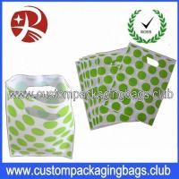 Quality Colorful Printed Recycle Merchandise HDPE / LDPE Die Cut Handle Plastic Bags For Shopping for sale