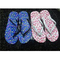 Wholesale Flower Print Slippers Fluorescent Fly Flot Rubber Sheets for Girls from china suppliers