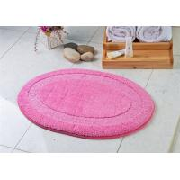 Wholesale Cute pink round novelty microfiber anti slip floor mat for household dinning room from china suppliers