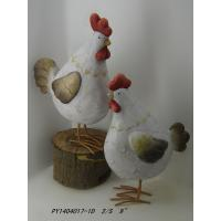Wholesale S017TC Unique Rooster Terracotta Garden Ornaments Weather Resistant from china suppliers