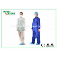Quality Light Surgical Disposable Coveralls Non-Woven Microporous Fabric for sale
