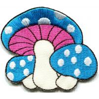 Wholesale Kids Embroidered Custom Iron On Patches Applique Mushroom Butterfly from china suppliers