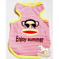 Wholesale 2013 brand dog shirt with color strips, 5 colors for choice from china suppliers