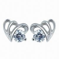Wholesale Silver Earrings, PNP Planting Surface from china suppliers