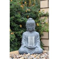 Quality Cyan Stone Sitting Buddha Asian Water Fountains In Magnesia Material for sale