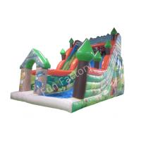 Wholesale Green Clown Inflatable Playground Slide , Inflatable Bounce House With Slide from china suppliers