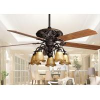 Wholesale Retro Ceiling Fan Light Fixtures , Home Decorative Rustic Ceiling Fans With Lights from china suppliers