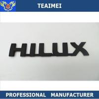 Wholesale Matte Black ABS Hilux Letter Nameplate Custom Car Emblems For Body Sticker from china suppliers