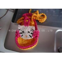 Wholesale Yellow Shoelace Knitted Baby Sandals Crochet Red Sweet Kitty Cat Shape Pattern from china suppliers