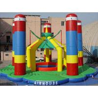 Wholesale Flame / UV Resistant Airhouse Inflatable Bungee Trampoline , Inflatable Amusement Park from china suppliers