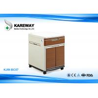 Wholesale Brown Hospital Bedside Cabinet Match With Care Beds , 2 Inch Caster KJW-BC07 from china suppliers