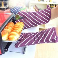 Wholesale AZO Free Cotton Canvas Kitchen Baking Glove wih Stripe Pattern Printed from china suppliers