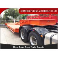 Quality Four Axle 100 Ton Lowboy Semi Trailer Construction Equipment Carrier for sale