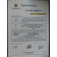 Qingdao Weier Plastic Machinery Co,.LTD Certifications