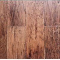 Wholesale Hickory Wood Flooring, handscraped, chatter mark, brushed surface, popular color stain from china suppliers