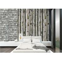 Wholesale PVC grey 3D home birch tree wallpaper decoration for living room 	, deep embossed from china suppliers