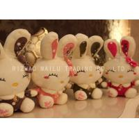 Wholesale PP Cotton Smiling Stuffed Bunny Rabbit Golden Button Rabbit Cuddly Toy from china suppliers