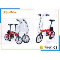 Quality Red / White Small Folding Electric Bicycle 20 × 4.0 Slide Proof Tyres for sale