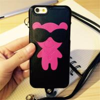 Wholesale Cartoon Leather + TPU Cell Phone Case for Iphone 6s Cover Bag With String from china suppliers