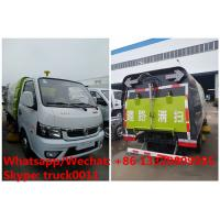 Wholesale cheapest price dongfeng 4*2 LHD gasoline road cleaning truck for sale, street sweeping truck, road sweeper vehicle from china suppliers