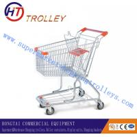 Wholesale 60L Unfolding Store / Supermarket Steel Wire Shopping Trolley With Handle from china suppliers