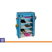 Wholesale Blue Fabric 5 Tier Shoe Storage Rack Multi-function and Space saving Shoes Racks from china suppliers