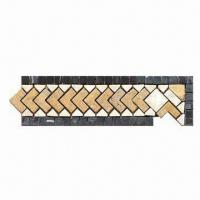 Quality 305 x 100mm Stone Mosaic Border, Suitable for Outdoor and Inner Kitchen for sale